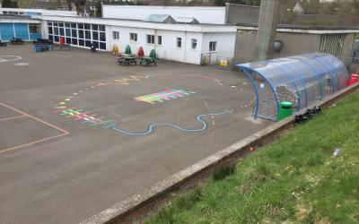 Manchester primary school gets a playground makeover