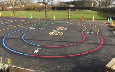 Vivid new playgrounds games brighten up Warkworth schoolyard