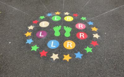 Playground markings brighten up school yard in Hayes