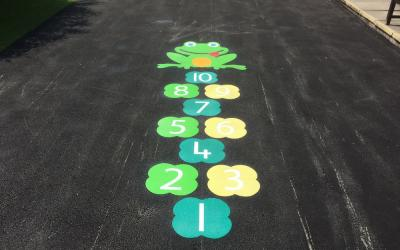 Bright new markings at Wilmslow Primary