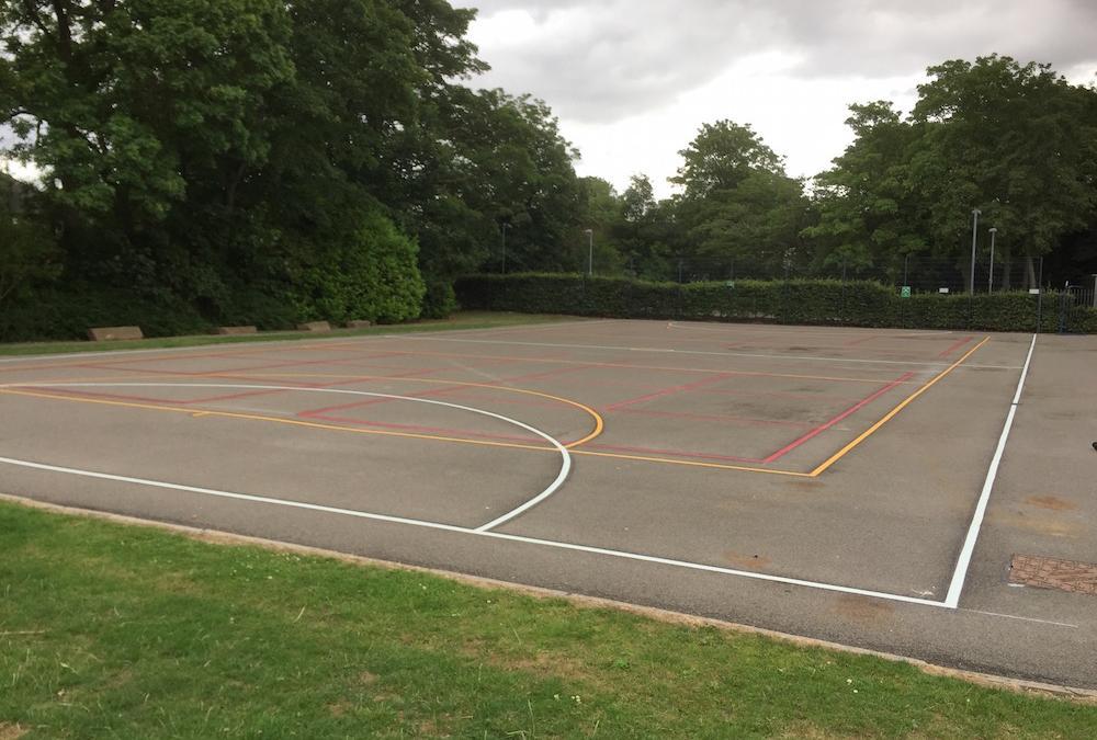 Brilliant new multi-court for a local Darlington school