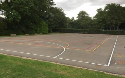 Brilliant new multi-court for a local Darlington school