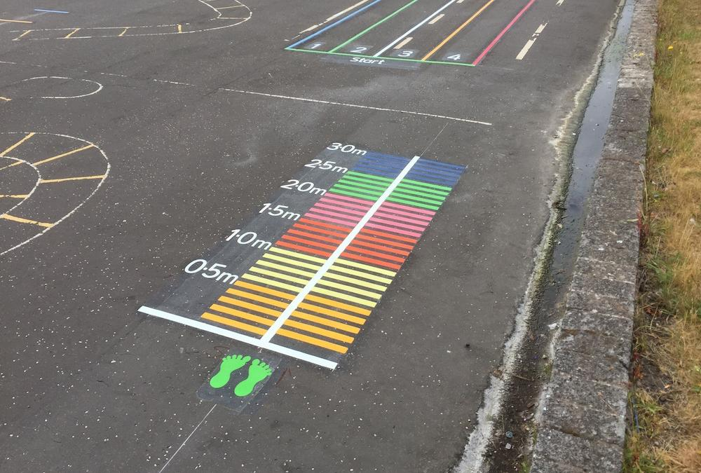 Vivid new markings at Lawmuir Primary