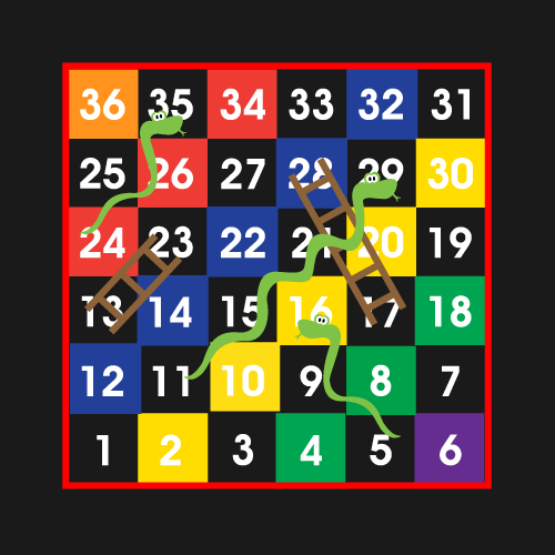 1-36-Snakes-&-Ladders