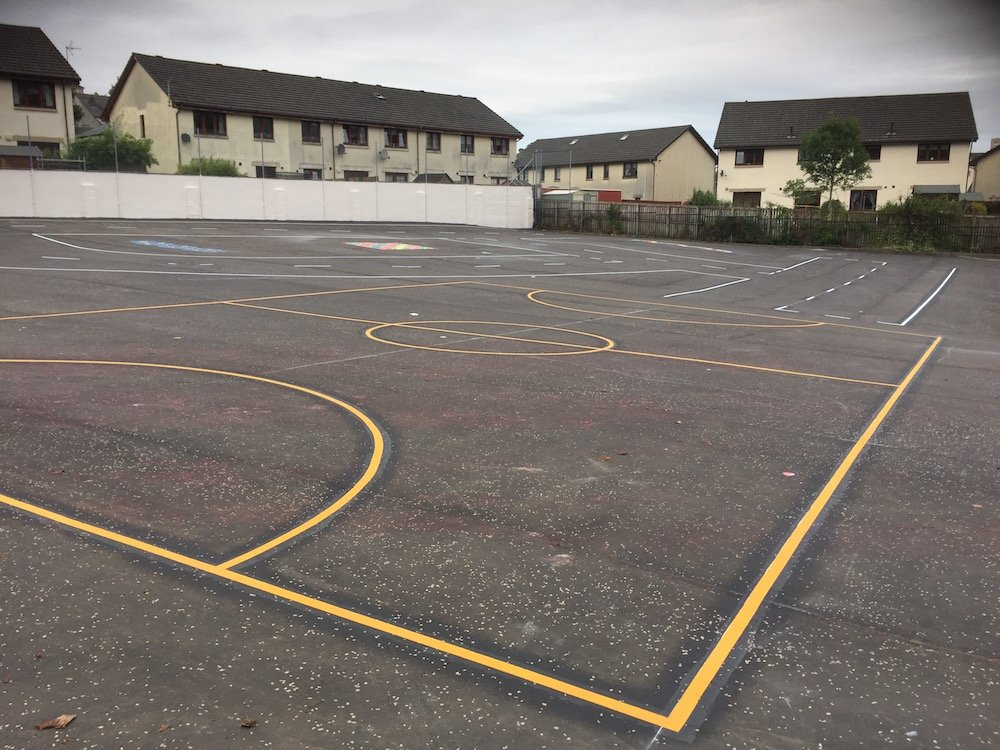New exciting and educational playground markings at Lady ...
