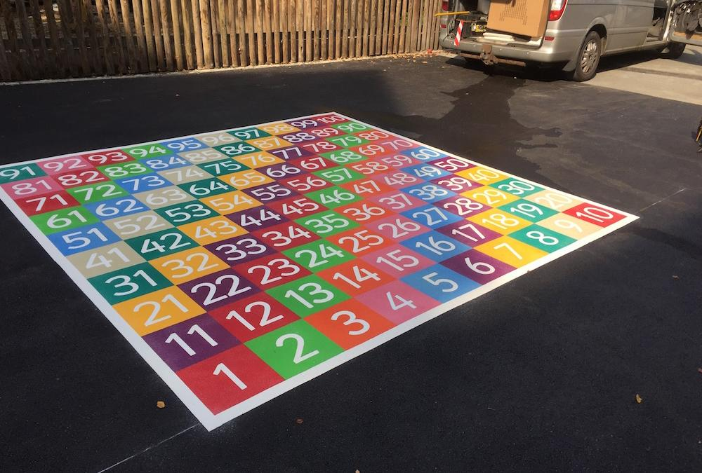 Bright new playground markings for a Primary School in Brent