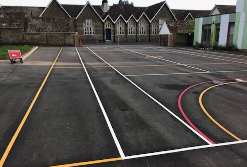 New Multi-Court at Wincanton Primary School in Somerset