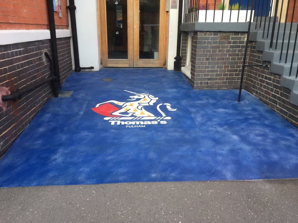 Sharp new school logo at St Thomas Primary School