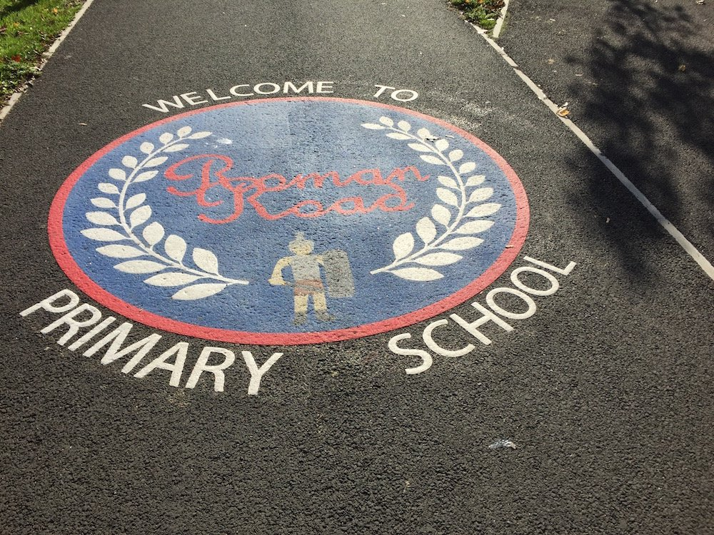Bright new markings at Roman Road Primary