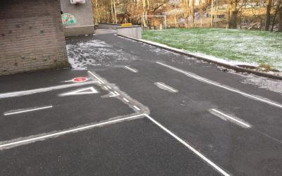 Sharp new Cycle Proficiency Track at a primary school near Aberdeen