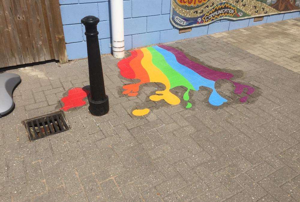 Exciting new playground markings at Hatcham Primary School, London