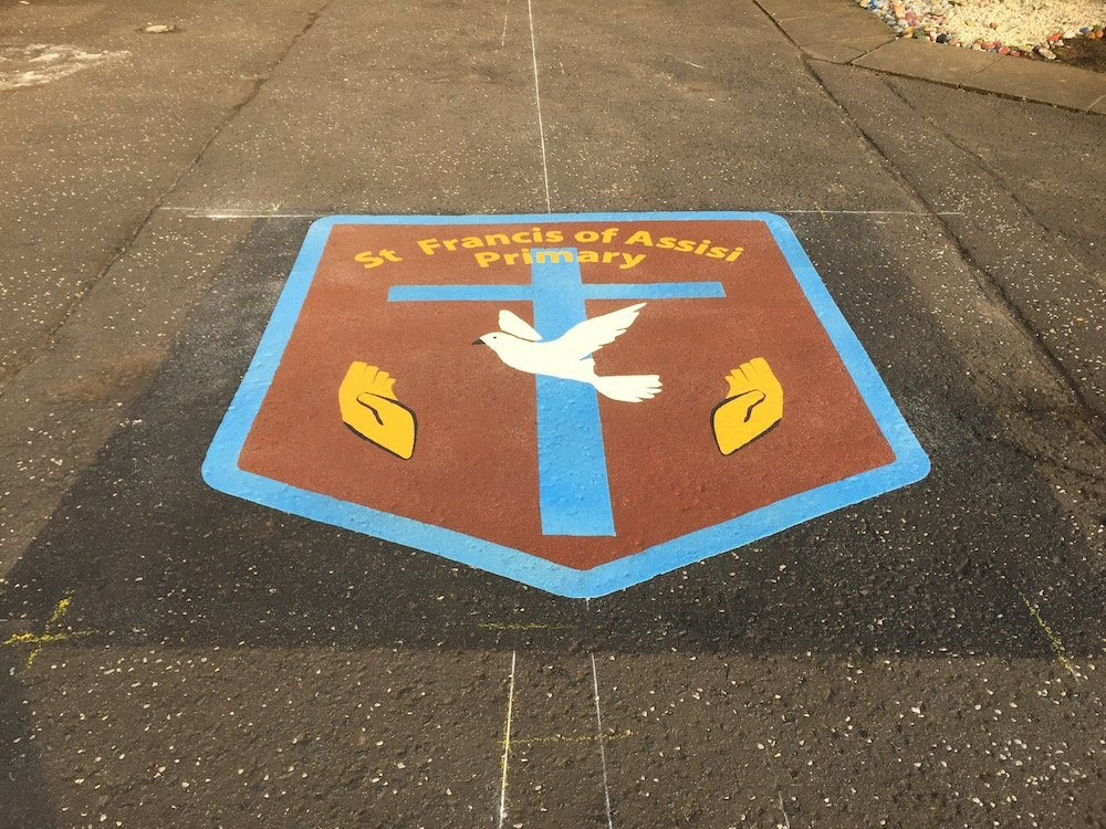 Fantastic new markings at St Francis of Assisi Primary School
