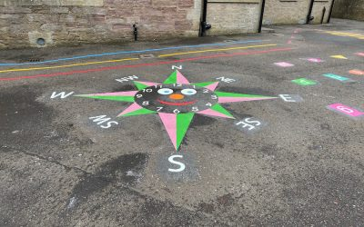 New playground markings at Blackford Primary-Kinross