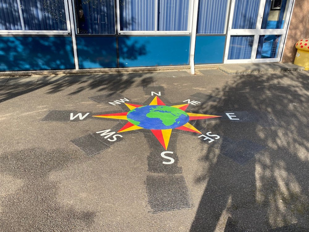Exciting new playground markings at a Primary School in Glasgow City Centre