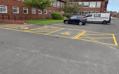 Disabled Parking Bays at St Thomas Moore