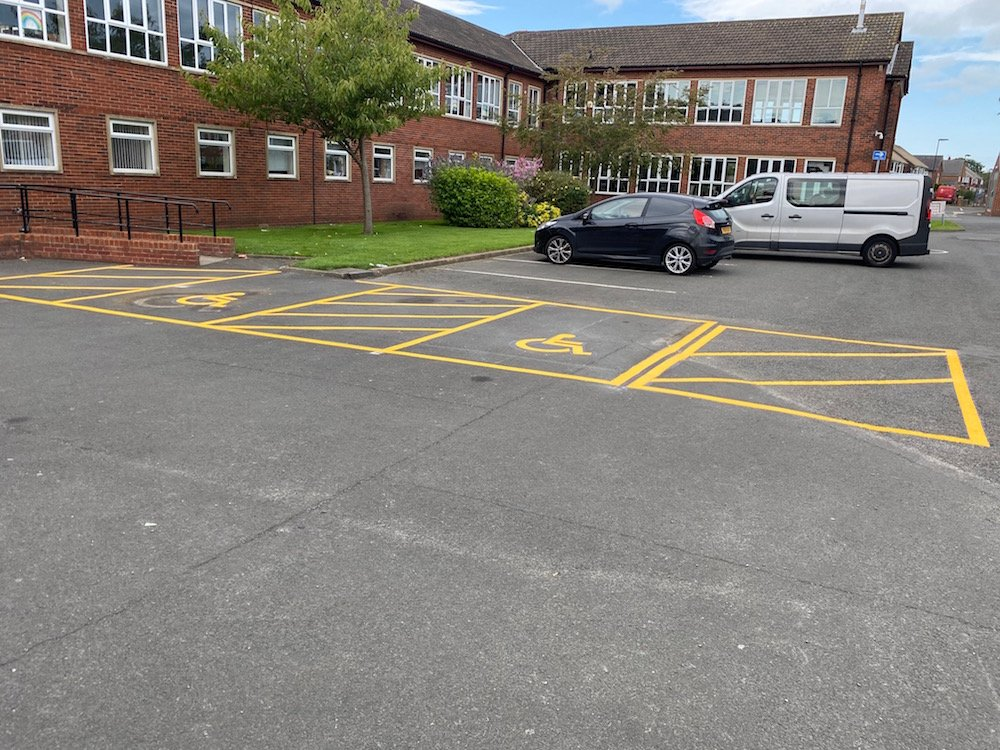 Disabled Parking Bays at St Thomas Moore