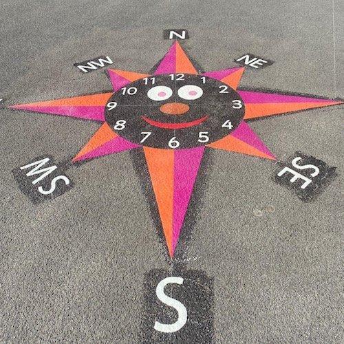 Smiley Clock Compass