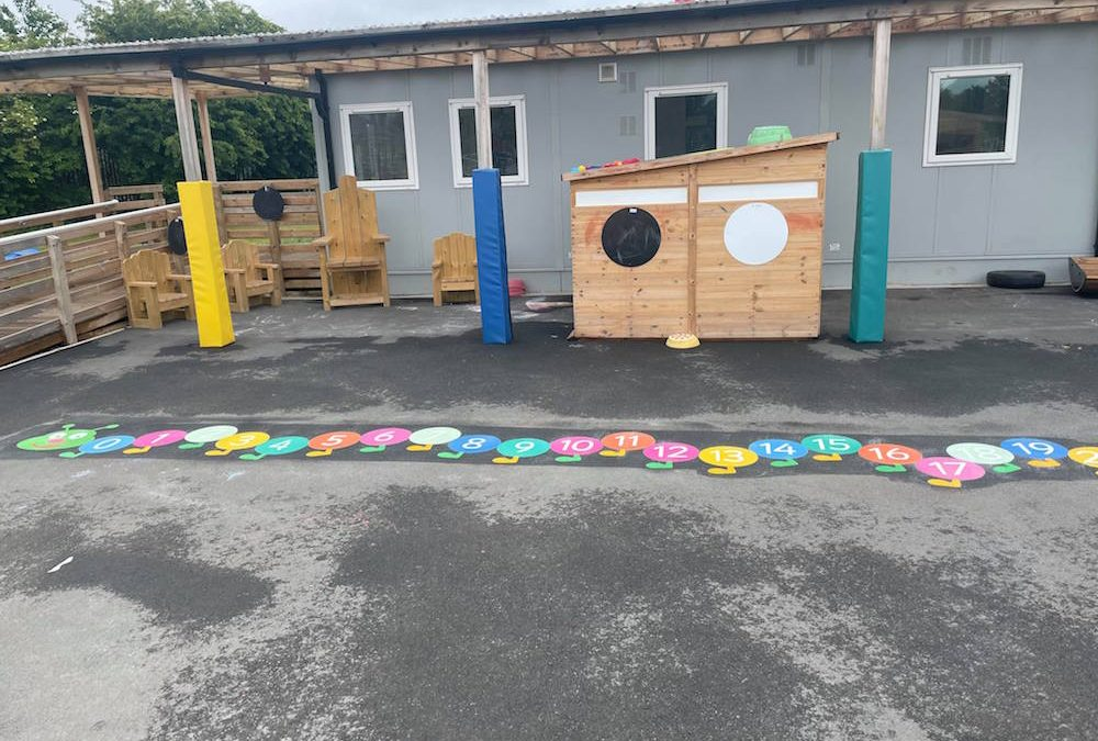 New markings at Discovery Primary Academy in Hartlepool