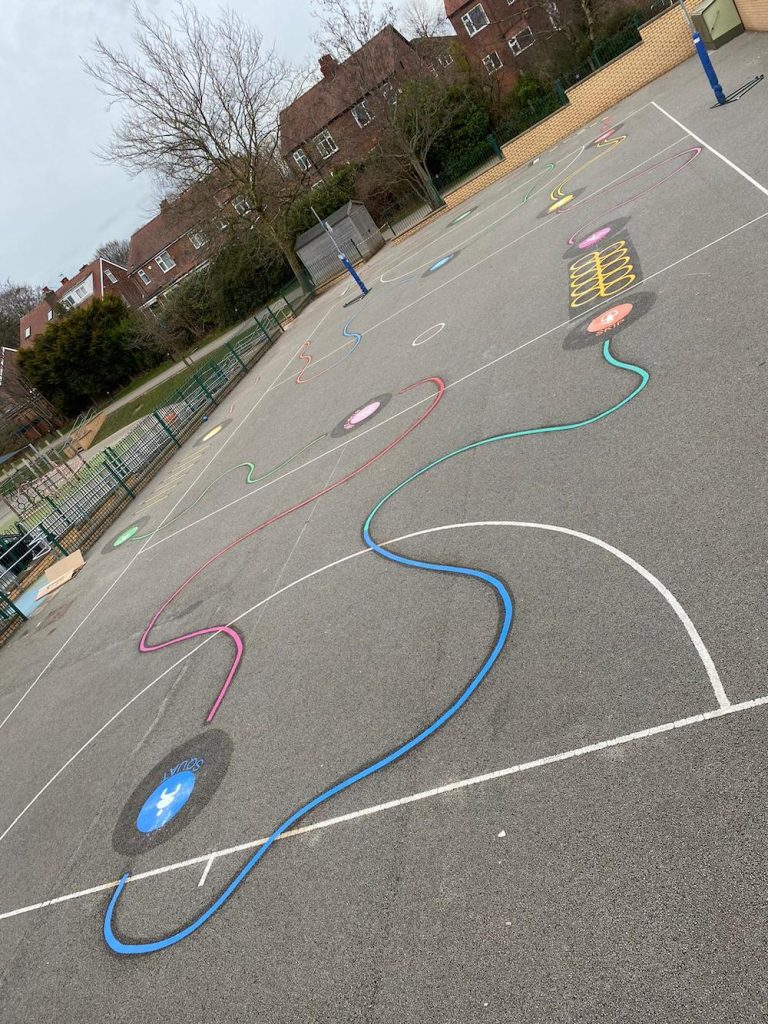 Exciting new 10 Piece Activity Trail at Rose Hill Primary School in Stockport