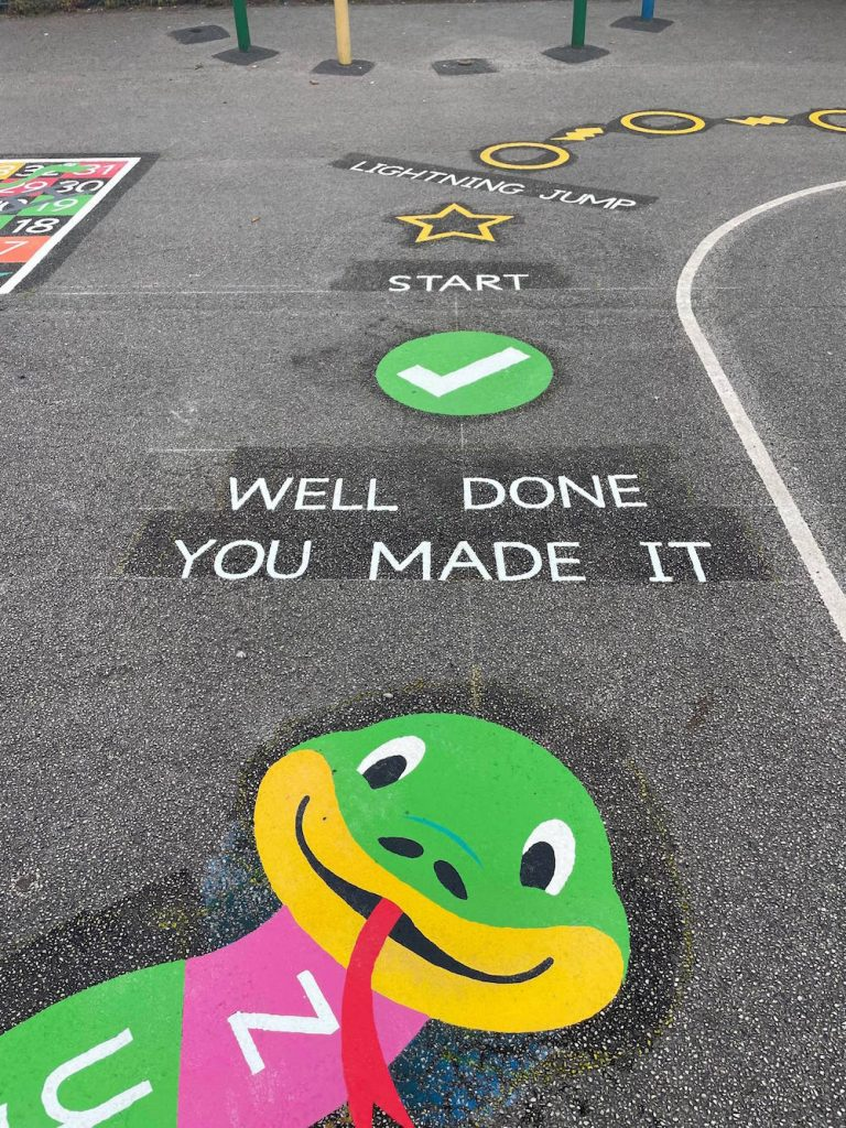 Exciting new playground markings at a Primary School in Bristol