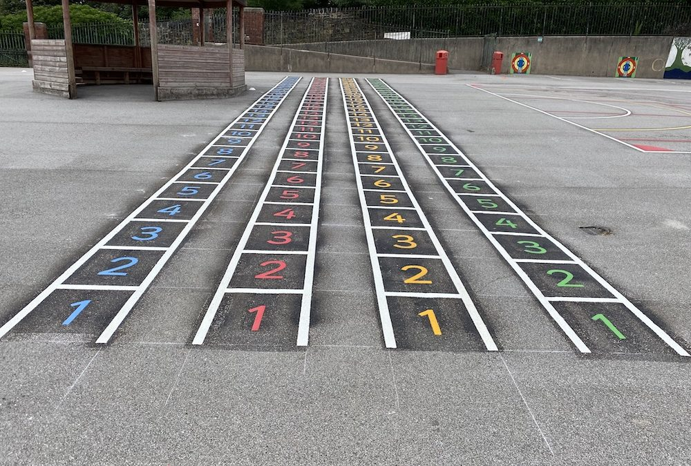 Exciting new playground markings at Byron Wood Academy Primary in Sheffield
