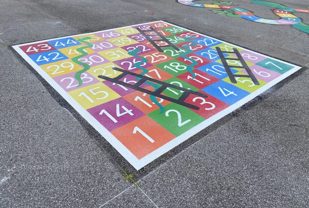 Vibrant new Playground Marking in Manchester by first4playgrounds